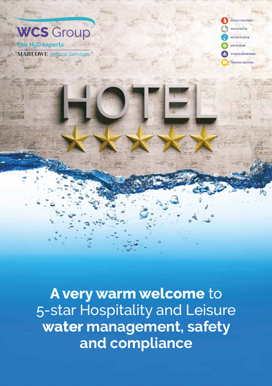 Water management for the hospitality and leisure sector