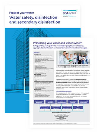 Water safety, purification of water, secondary disinfection eBook cover